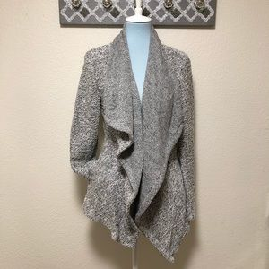 Blanc Noir Sweater Jacket Draped Cardigan, Size L